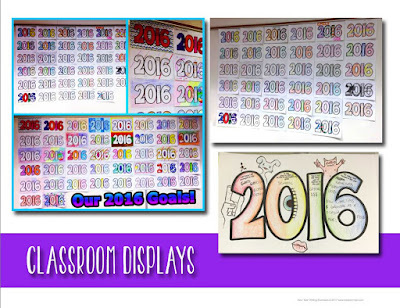 New Year Activities for Students - Classroom Display