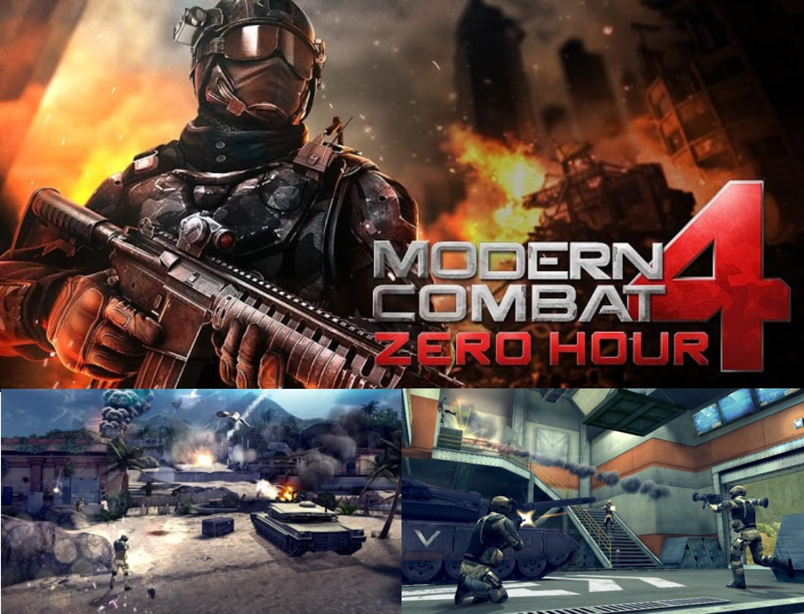 Modern Combat 4: Zero Hour 1.2.3e Mod Apk + Data For ...