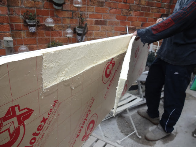 cutting celotex insulation