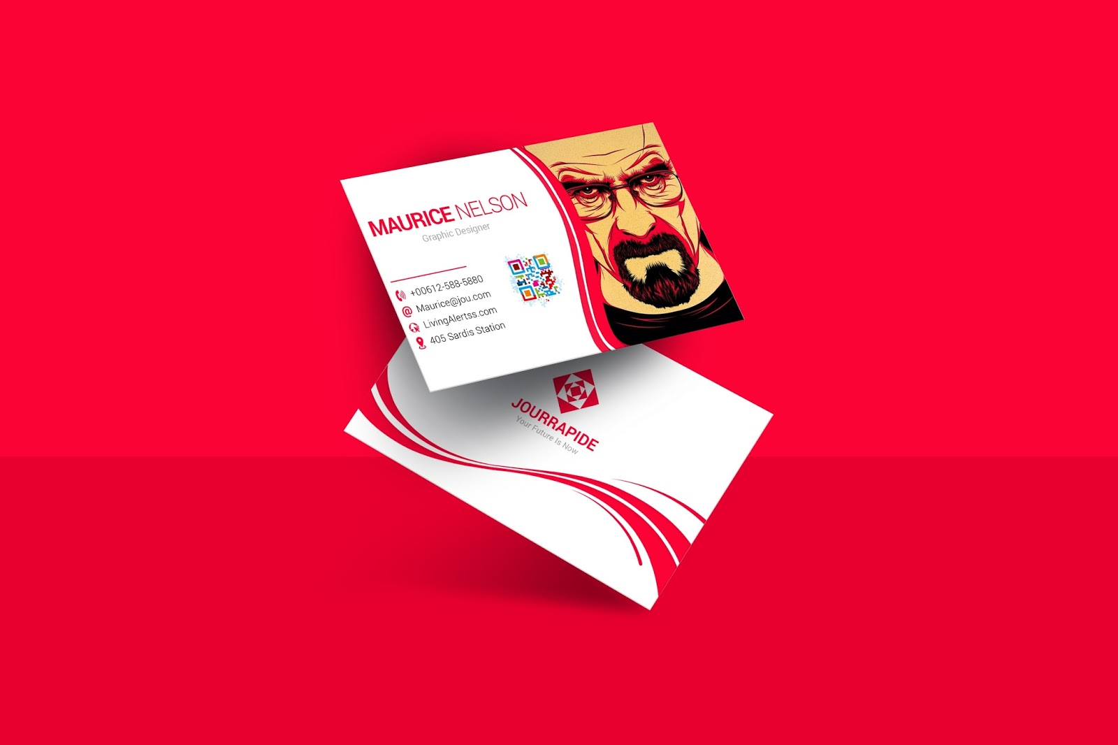 Business Card For Graphic Designer Psd Free