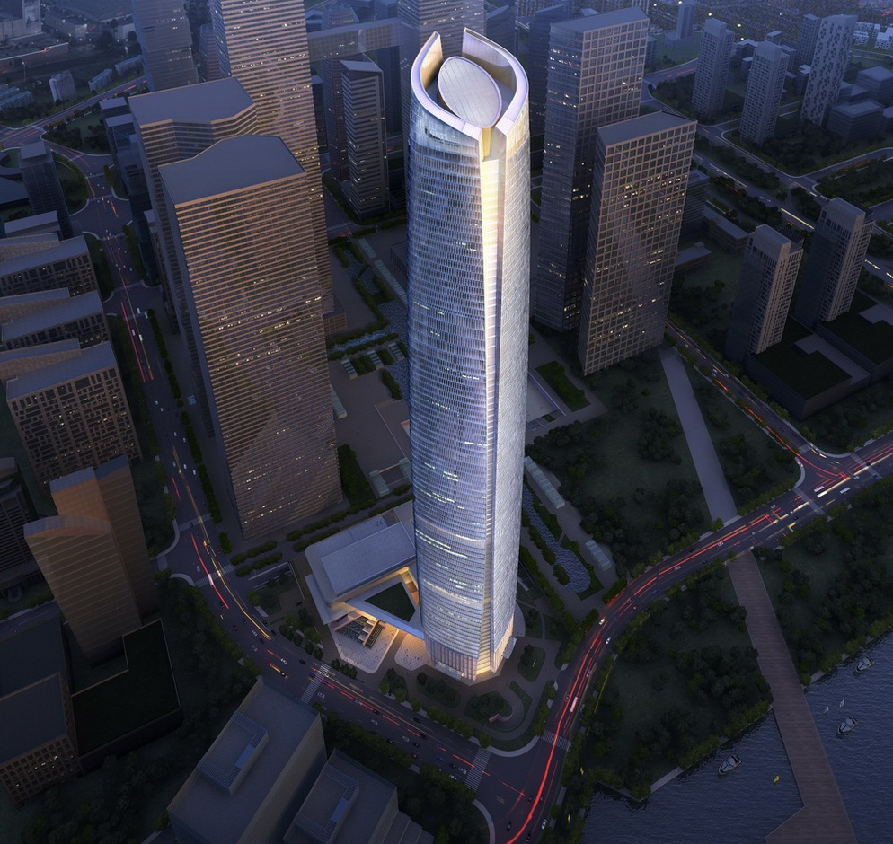 Skyscrapers: Wuhan Center, Highest Building of Central China - Modern Cabinet