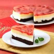 cara membuat puding stroberi cake