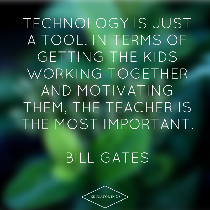 Technology,Teaching and Tradition: Finding the Right Balance.