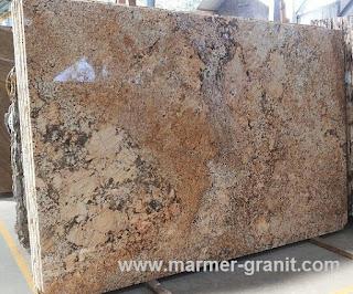 Lantai teras granit golden himalaya granit slabs