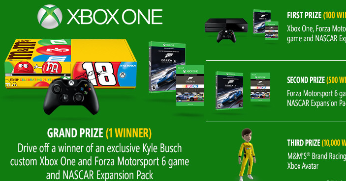 Nascar Games For Xbox 1 : M s xbox one giveaway winners win an
