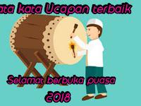 Kumpulan ucapan buka puasa Ramadhan 2018 terbaik
