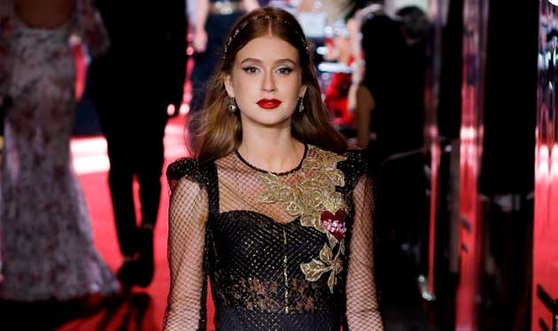 Marina Ruy Barbosa Desfle da Dolce Gabbana