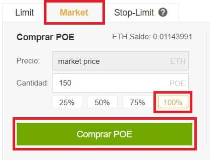 Comprar Binance criptomoneda POE Po.et