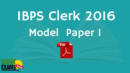 ibps clerk paper