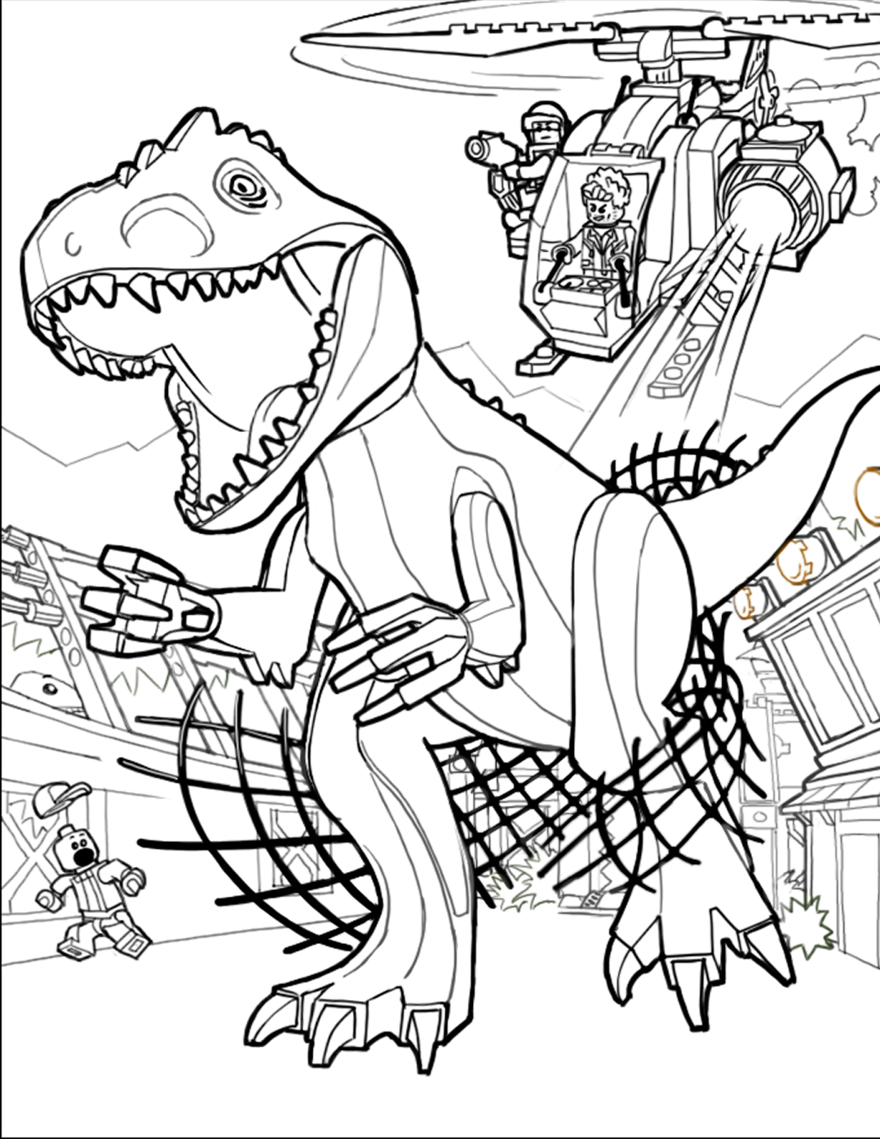 jurassic world echo coloring pages | FUN & LEARN : Free worksheets for kid: Jurassic World Free ...