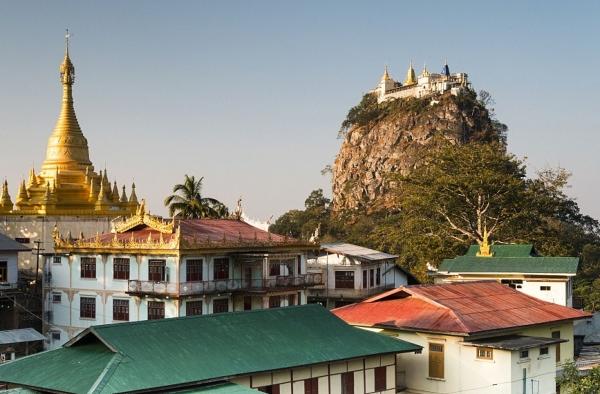 Manastirea budista din Taung Kalat