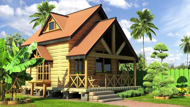 Desain Rumah Kayu Minimalis Gaya Eropa
