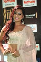 Prajna Actress in backless Cream Choli and transparent saree at IIFA Utsavam Awards 2017 0036.JPG