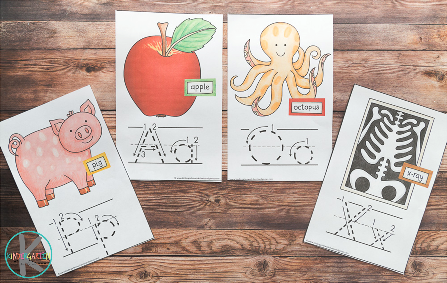 Kindergarten Worksheets And Games Free Alphabet Wallcards