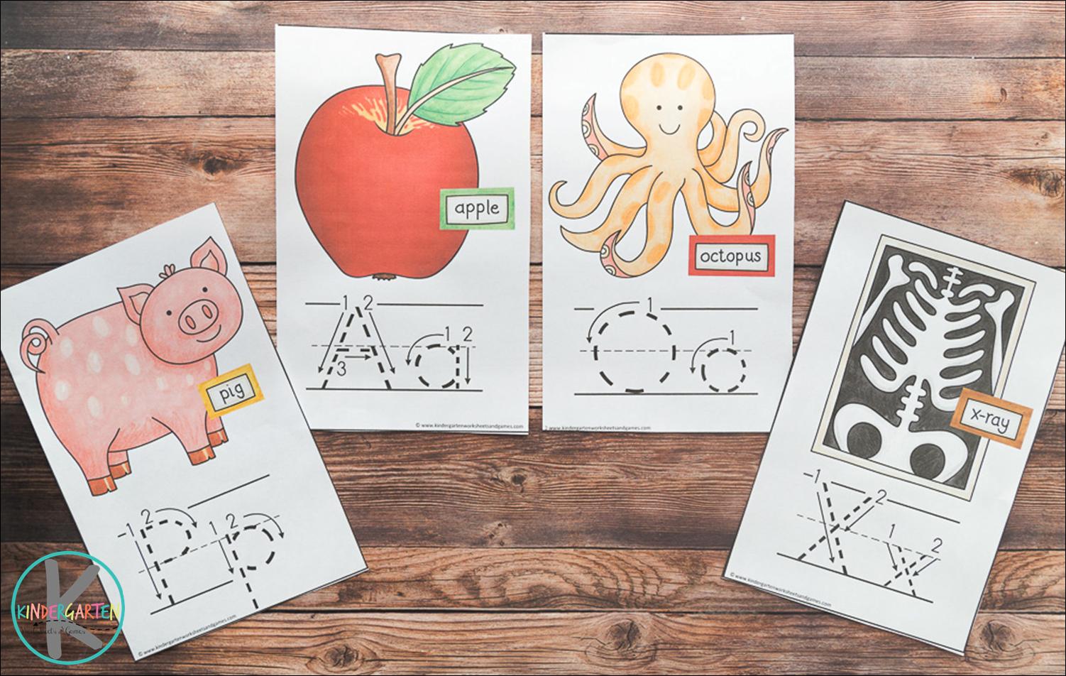 Kindergarten Worksheets And Games Free Alphabet Wallcards