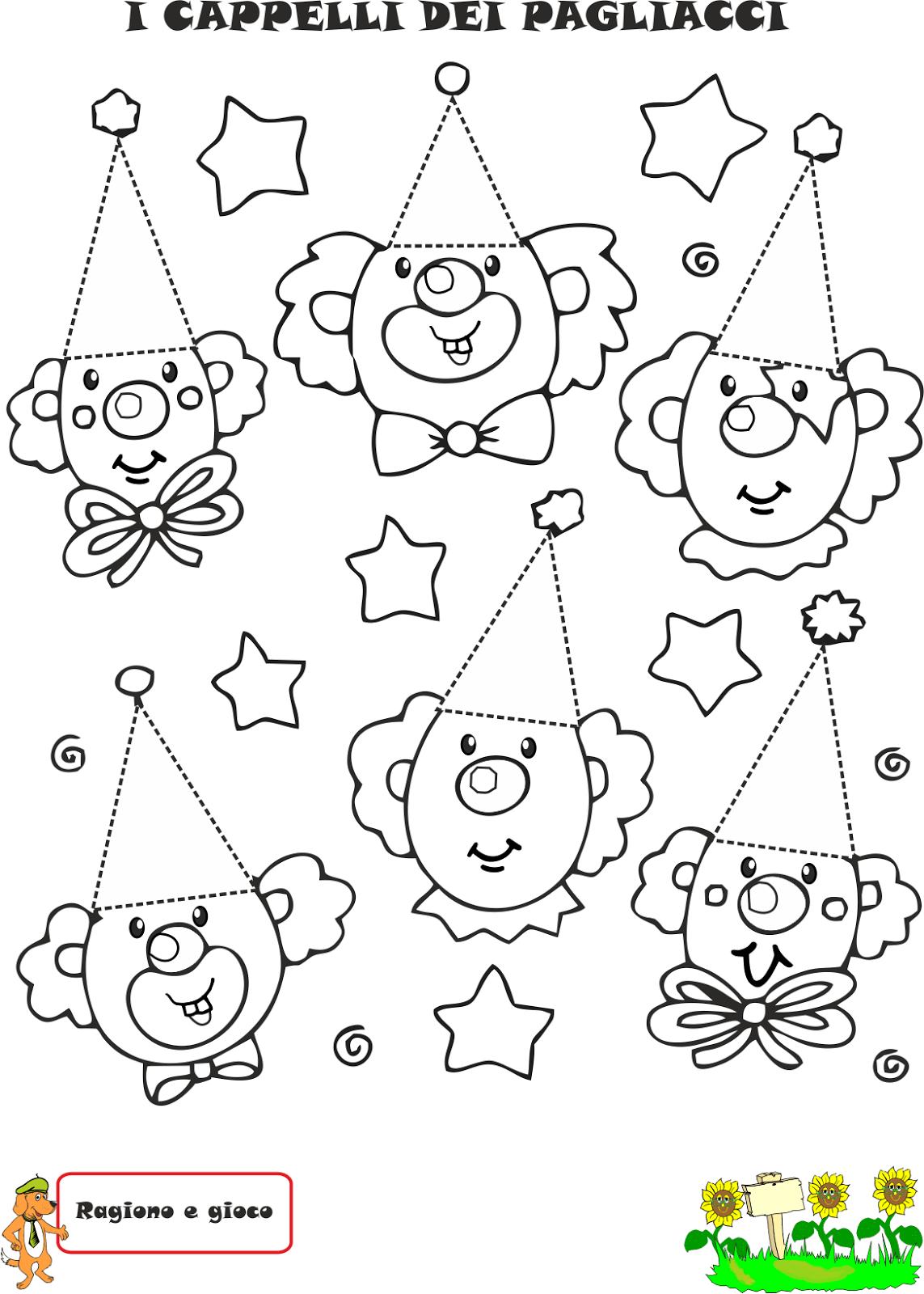 A scuola con poldo triangolino e il paese di triangopoli for Immagini di clown da colorare