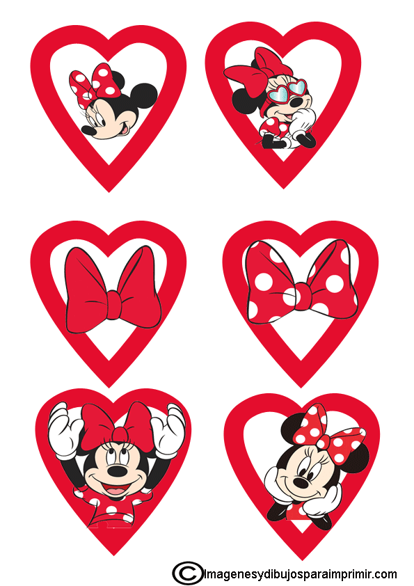 Minnie Mouse Para Decorar Cupcakes