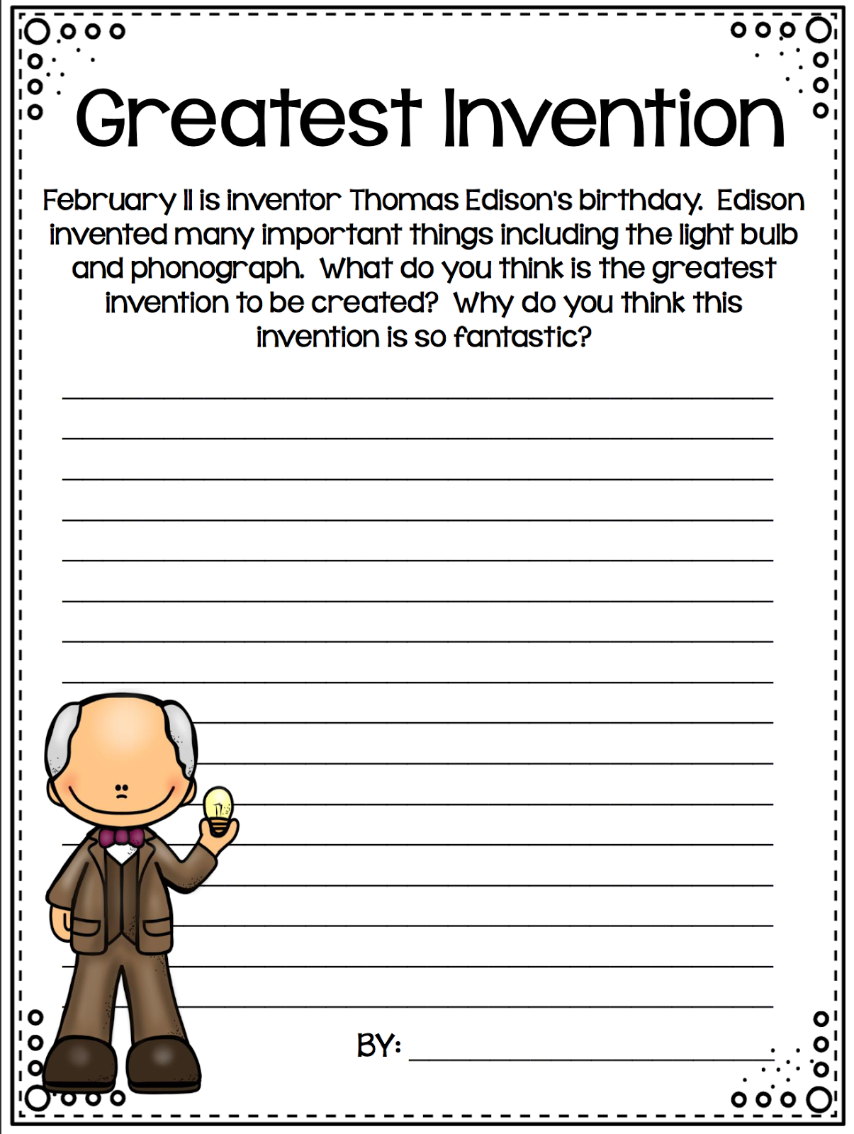 Adventures Of A 4th Grade Classroom Monthly Writing Prompts