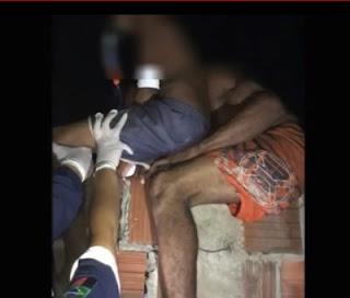 Ferro perfura nádegas de garoto no interior da PB e população tenta ajudá-lo; veja vídeo