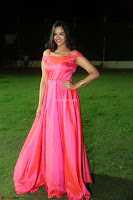 Actress Pujita Ponnada in beautiful red dress at Darshakudu music launch ~ Celebrities Galleries 043.JPG