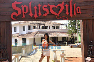 Sherlyn Chopra & Nikhil Chinnapa on the sets of MTV Splitsvilla