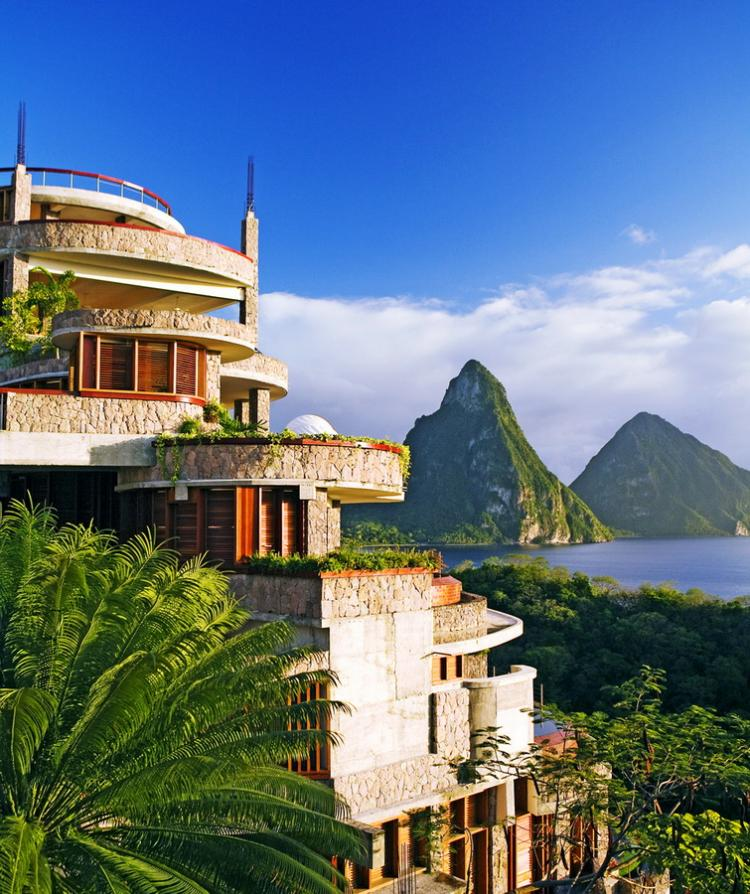 Classy Posts: Jade Mountain hotel in the Caribbean