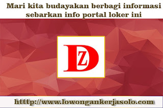 INFO LOWONGAN KERJA PT Beijing Dazheng Plastic Indonesia Desember 2016