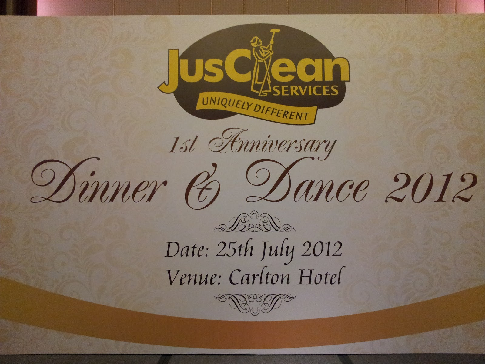 Emcee richard style: jusclean services 1st anniversary dinner