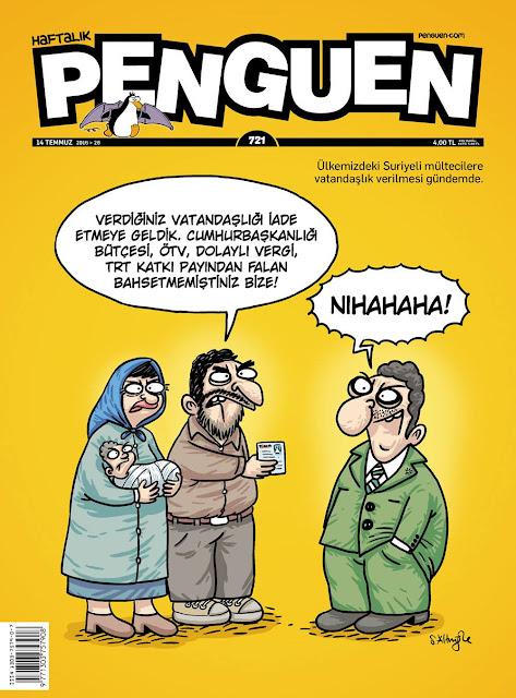 Penguen Dergisi - 14 Temmuz 2016 Kapak Karikatürü