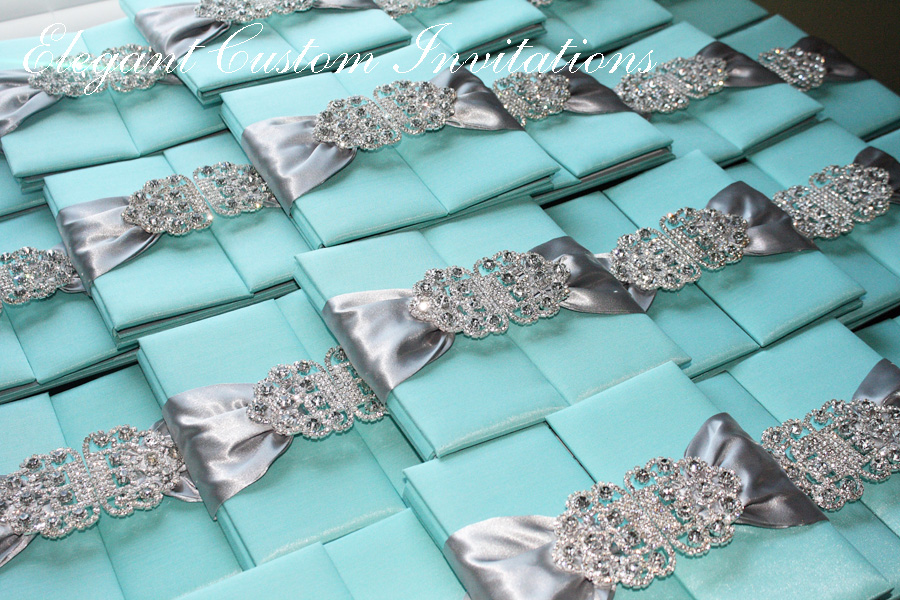 Tiffany Blue And Red Wedding Invitations: Isabella Invitations