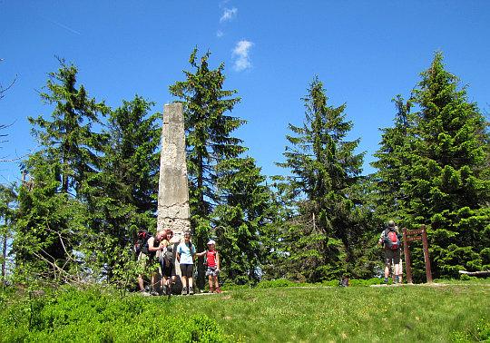 Na najwyższym szczycie Gorców - Turbacz, 1310 m n.p.m.