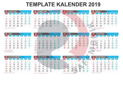 Gratis Download Template Kalender Coreldraw 2019 Safembrik S