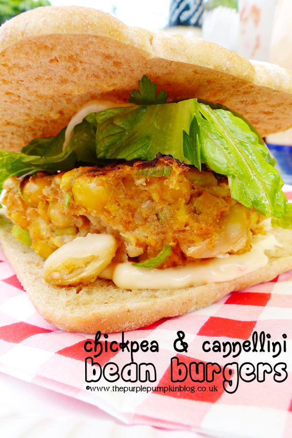 Chickpea & Cannellini Bean Burgers #Vegetarian #BBQ