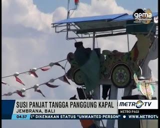 Aksi nyentrik Menteri Susi Pudjiastuti