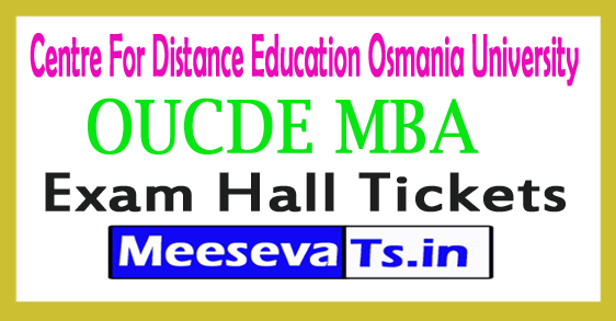 OUCDE MBA l/ll/lll Year Hall Tickets