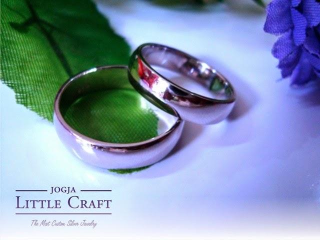 cincin perak simple band - jogja little craft