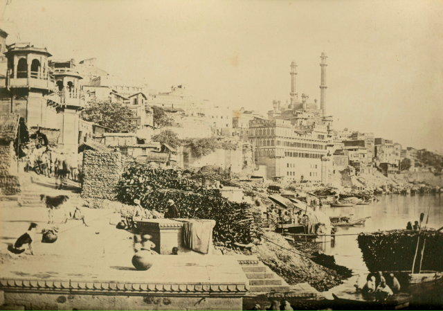 Alamgir Mosque and Adjoining Ghats in Varanasi (Benares) - c1865