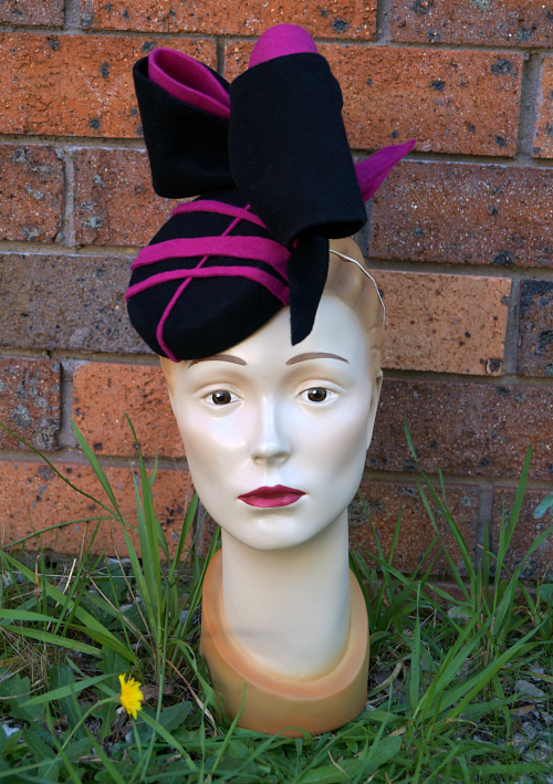 Handmade custom fascinator for the races