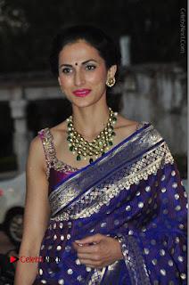 Model Shilpa Reddy Stills in Purple Silk Saree at Gudi Sambaralu 2017 Sri Ramachandra Swami Temple  0037.JPG