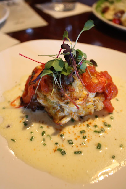 Maryland Crab Cake in lemon chive beurre blanc at VAI's Naperville.