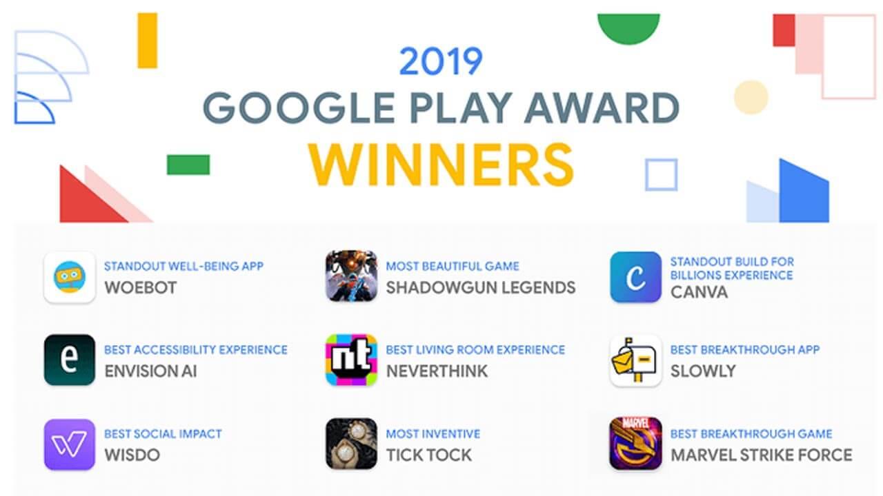 9 Aplikasi dan Game Pemenang Google Play Awards 2019