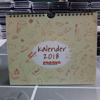 Harga Kalender Meja 2018 Termurah