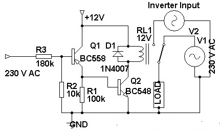 230 volt ac to inverter switching circuit diagram asfbconference2016 Choice Image