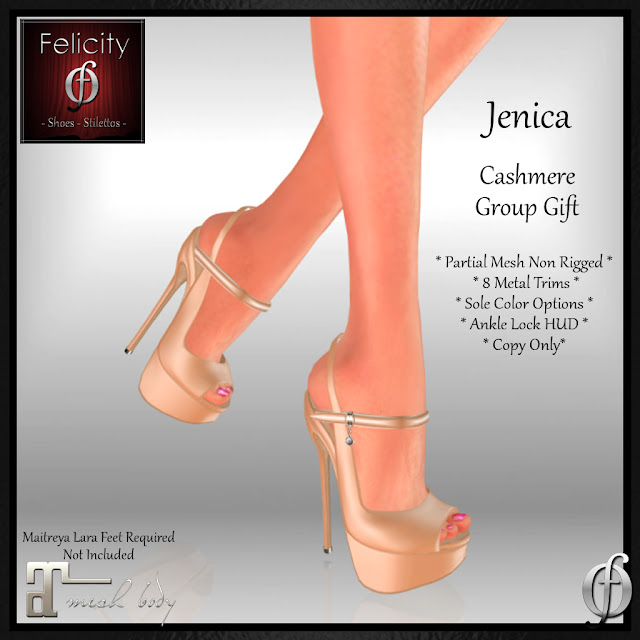 Jenica Stilettos Group Gift by Felicity (for Maitreya) - Free Shoes in Cashmere