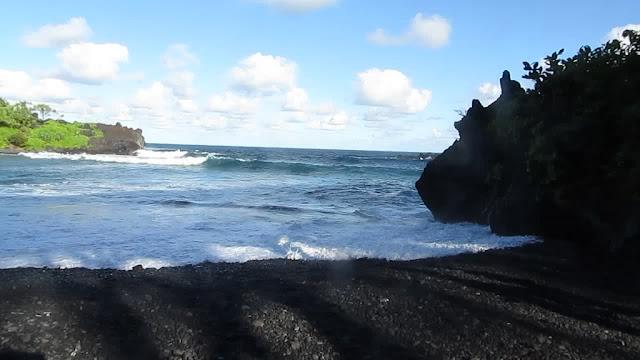 road to hana black sand beach