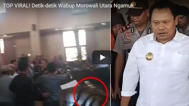 Memalukan, Wakil Bupati Morowali Utara Ngamuk Tendang Kursi Dan Meja saat Pelantikan Pejabat