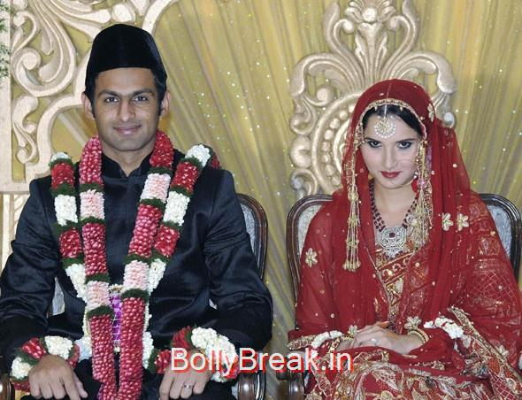 Shoaib Malik and Sania Mirza at their wedding,  7 Rare Unseen Pictures of Sania Mirza