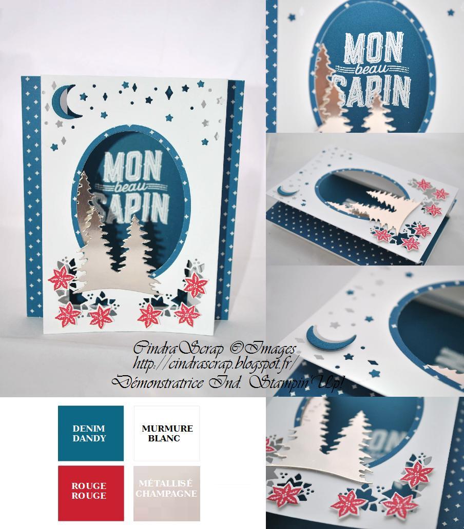 carte de noel 2018 stampin up CindraScrap carte de noel 2018 stampin up