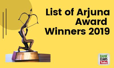 List of Arjuna Award Winners 2019