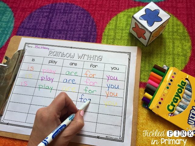 This editable sight word writing makes practicing sight words more fun. Skinny markers are a great way to let students use something else to write with that mimics a pencil, but add a pop of color!